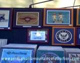 artistic plaques booth at Penn State Art Festival
