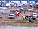 A photo of demolition derby at Cambria County Fair