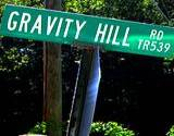 An address sign of Gravity Hill
