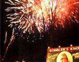 Nightly fireworks display at PA Winter Festival Groundhog Day