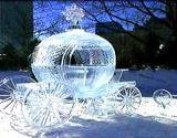 ice sculpture of carriage