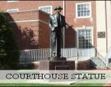 A statue of James Stewart that stands in front of the courthouse in Indiana, PA