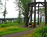 photo of a beautiful sitting area at Kinzua Bridge State Park