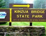 photo of the sign announcing Kinzua Bridge State Park entrance