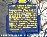 photo of a sign outside Altoona Mishler Theatre showing historic significance