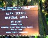 A sign leading to Seeger Natural Area on Mystery Tour