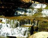 photo of a waterfall along a trail at the PA Grand Canyon