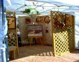 Boalsburg's The People Choice Festival crafts tent displaying 3-D Art