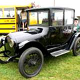 A photo of a 1919 electric car at the PA Energy Festival
