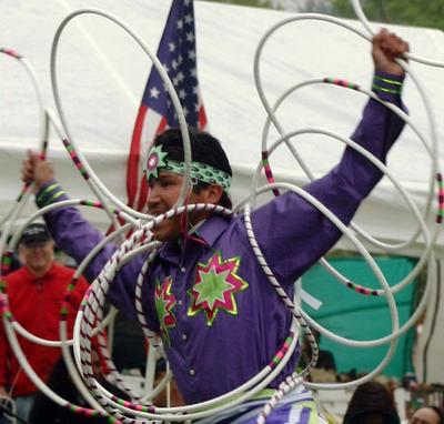 Mikmaq Hoop Dancer Matthew White Eagle Clair