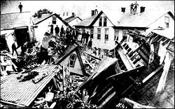 Pictures of the aftermath of the Johnstown flood, downtown Johnstown
