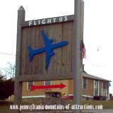 photo of the entrance sign to Flight 93 Memorial