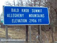 Bald Knob Summit along the PA Lincoln Highway