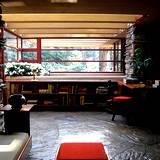 View of den in Frank Lloyd Wrights Fallingwater