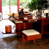 View of desk sitting in the den of Frank Lloyd Wrights Fallingwater