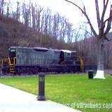 PA National Landmark The World famous Altoona PA Horseshoe Curve Train on display at the top of the curve.