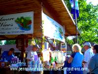 wine booth at PA Fall Festival at Lakemont Park