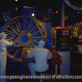 photo of a replica of the engineer room and statues of engineers working at their desk for the old Pennsylvania Railroad photo taken during ghost hunt at the Altoona Railroaders Memorial Museum