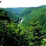 unique view of the Allegheny Mountains