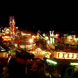 A photo of the Allentown Fair midway at night