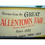 A photo of the sign entering the Allentown Fair