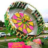 A midway ride with zero gravity at Bedford Fair