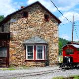 photo of station house at East Broad Top Railroad Steam Locomotion Railroad