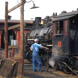 photo of a maintenance engineer at East Broad Top Railroad Steam Locomotive Railroad