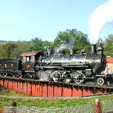 photo of steam locomotive at East Broad Top Railroad