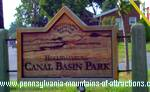 PA Canal Basin Park Enter Park Sign
