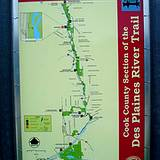 photo of a hiking trail map at Cooks Forest PA State Park