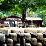 photo of a canoe rental area at Cooks Forest PA State Park