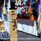 handmade wooden crafts with wooden snowman