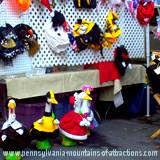 handmade crafts at craft festival goose with clothes and accessories