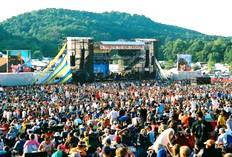 A huge crowd gathered at the amphitheater at the