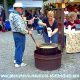 DelGrosso Parks Harvestfest Bean Soup cooked over open fire