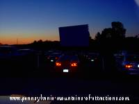 dusk at the drive-in theater