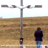 cross erected at Flight 93 Memorial site