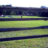 photo of a view from the fence at Central Pennsylvania historic landmark Fort Roberdeau