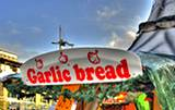 photo of a vender selling garlic bread at the Pocono Garlic Festival