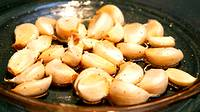 photo of a sample of roasted garlic at the Pocono Garlic Festival