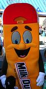 photo of Milk Duds character at Hersheypark