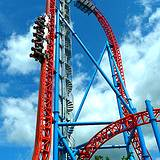 photo of Hershey Park's new ride Fahrenheit Roller Coaster