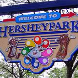 photo of the welcome sign to Hershey Park