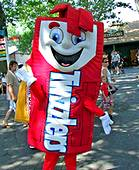 photo of Twizzler character at Hersheypark