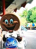 photo of a York Peppermint Patty character at Hersheypark