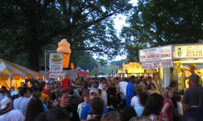 Food vendors at Kirby Park