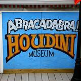 photo of a sign for the Houdini Museum