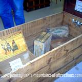 A wooden antique wooden bathtub at Huntingdon County Fair