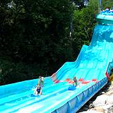 Giant water slide at Idlewild Park Soak Zone